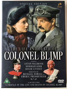 The Life and Death of Colonel Blimp DVD 1943 Special Edition / Directed by Michael Powell, Emeric Pressburger / Starring: Anton Walbrook, Deborah Kerr, Roger Livesey (5037115031433)