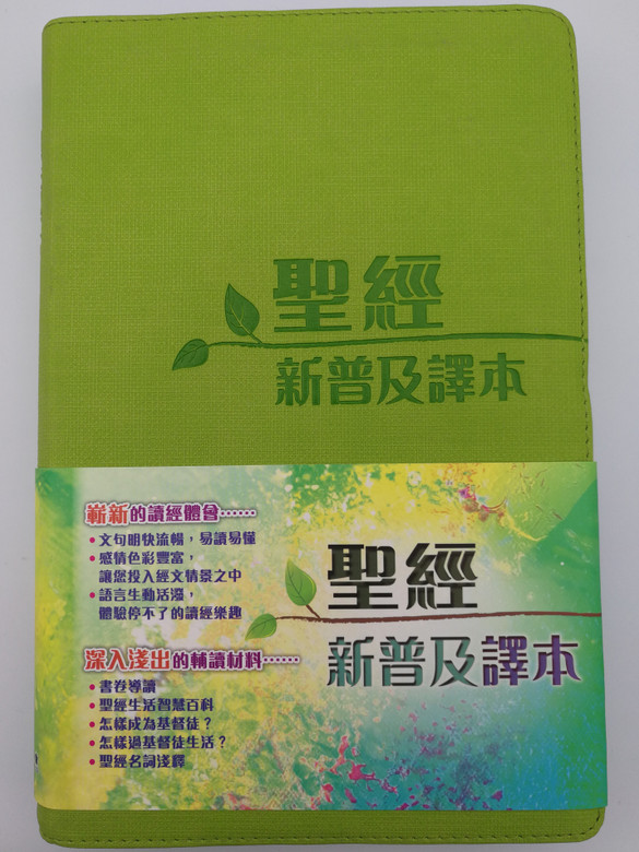 Holy Bible - Chinese New Living translation / Green Leather bound CAT8904 / Chinese Bible International 2013 / Chinese NLT Bible (9789625139043)