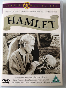 Hamlet DVD 1948 / Directed by Laurence Olivier / Starring: Laurence Olivier, Eileen Herlie, Basil Sydney, Jean Simmons (5037115049735)