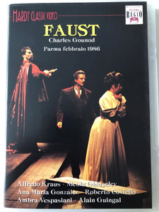 Charles Gounod - Faust DVD Parma fabbraio 1986 / Hardy Classic Video / Directed by Beppe de Tomasi / Orchestra Sinfonica dell'Emilia-Tomagna / Conducted by Alain Guingal (8018783040054)