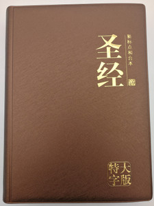 Chinese Union Version Holy Bible with new punctuation / Brown vinyl bound / Bible Society Malaysia 2018 / CUNPSS83PL / Page index, color maps (9789830300719)