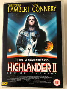 Highlander II - The Quickening DVD 1991 / Directed by Directed by Russell Mulcahy / Starring Christopher Lambert, Sir Sean Connery, Michael Ironside, Virginia Madsen, John C. McGiney (5017239191190)