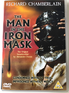 The Man in the Iron Mask DVD 1977 / Directed by Mike Newell / Starring: Richard Chamberlain, Patrick McGoohan Louis Jourdan (5030370901534)
