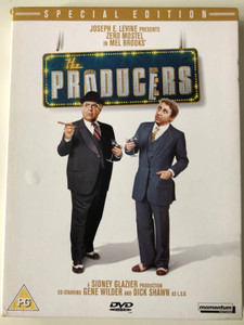 The Producers DVD 1967 / Directed by Mel Brooks / Starring: Zero Mostel, Gene Wilder, Kenneth Mars (5060049140711)