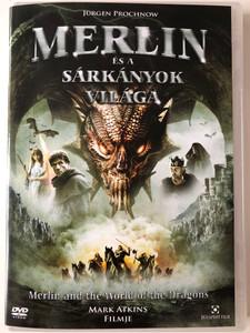Merlin and the War of the Dragons DVD 2008 Merlin és a sárkányok világa / Directed by Mark Atkins / Starring: Simon Lloyd Roberts, Jürgen Prochnow, Hefin Wyn (5999544255449)