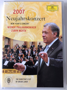 Neujahrskonzert 2007 DVD New Years Concert LIVE Recording / Wiener Philharmoniker / Conducted by Zubin Mehta / Driected by Brian Large / Deutsche Grammophon (044007341889)