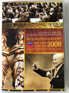 Neujahrskonzert - New Year's Concert DVD 2008 Conducted by Georges Prêtre, Wiener Philharmoniker ‎/ Directed by Brian Large / Decca (044007432464)