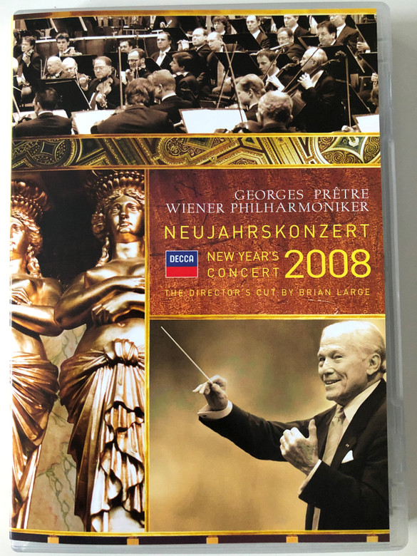 Neujahrskonzert - New Year's Concert DVD 2008 Conducted by Georges Prêtre, Wiener Philharmoniker / Directed by Brian Large / Decca (044007432464)