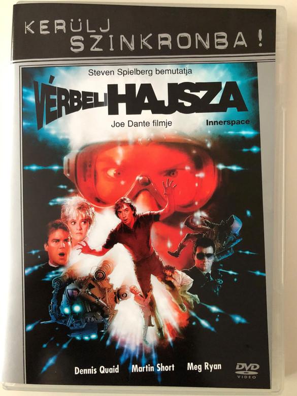 Innerspace (1987) DVD Vérbeli Hajsza - Kerülj szinkronba! / Directed by Steven Spielberg / Starring: Dennis Quaid, Martin Short, Meg Ryan (5999048912381)