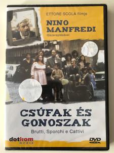 Brutti Sporchi e Cattivi DVD 1976 (Down and Dirty) Csúfak és Gonoszak / Directed by Ettore Scola / Starring: Nino Manfredi, Marcella Michelangeli, Marcella Battisti, Francesco Crescimone (5999556580027)