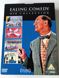 Ealing comedy DVD Collection - Hue & Cry, Passport to Pimlico, The Titfield Thunderbold, Forever Ealing Bonus Disc / 3 classic Ealing Comedies on dvd & Bonus / 4 discs (7321900384865)