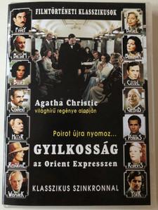 Murder on the Orient Express DVD 1974 Gyilkosság az Orient Expresszen - Klasszikus Szinkronnal / Directed by Sidney Lumet / Starring: Albert Finney, Lauren Bacall, Martin Balsam, Ingrid Bergman (5999346330205)