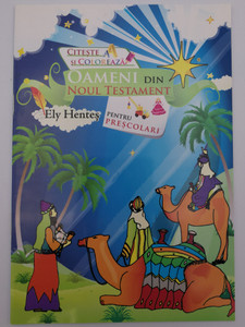 Oameni din Noul Testament by Ely Hentes / People of the New Testament - Romanian language coloring book for preschoolers / Paperback / Romanian Bible Society (9789738993402)