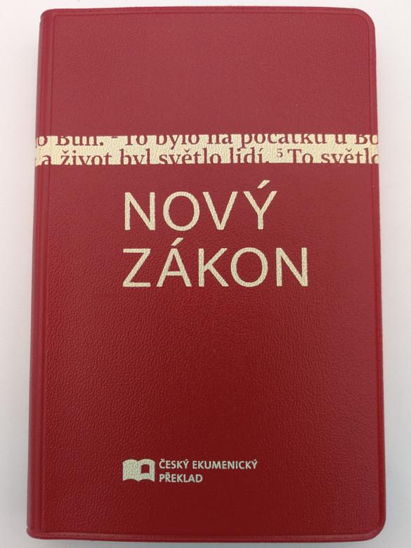 Nový zákon - Czech Ecumenical translation New Testament / Czech NT / Red Vinyl Cover / Český Ekumenický překlad / Česká biblicka společnost 2016 / ČEP NT (9788075450142)