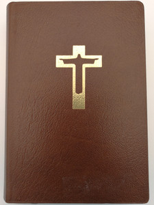 Bibeln / Swedish language Holy Bible - Brown Bonded Leather with golden page edges / EPS förlaget / Svenska Biblesällskapets / Swedish Bible Society 1988 (9170805385.)