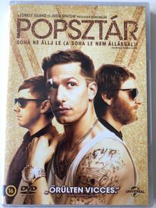Popstar - Never stop never Stopping DVD 2016 Popsztár - Soha ne állj le (a soha le nem állással) / Directed by Akiva Schaffer, Jorma Taccone / Starring: Andy Samberg, Jorma Taccone, Akiva Schaffer, Sarah Silverman (8590548613418)