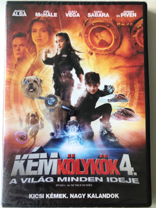 Spy Kids 4 - All the time in the world DVD 2011 Kémkölykök 4. A világ minden ideje / Directed by Robert Rodriguez / Starring: Jessica Alba, Joel McHale, Alexa Vega, Daryl Sabara (5999075603351)