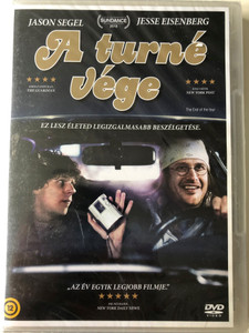 The end of the tour DVD 2015 A turné vége / Directed by James Ponsoldt / Starring: Jason Segel, Jesse Eisenberg (8590548613081)