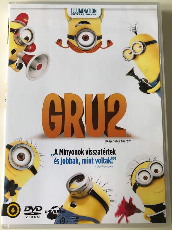 Despicable me 2 DVD 2013 Gru 2 / Directed by Chris Renaud, Pierre Coffin / Starring: Steve Carell, Kristen Wiig, Benjamin Bratt , Miranda Cosgrove (8590548601354)