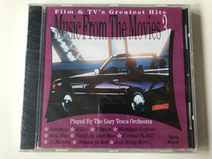 Music from the Movies 3 - Film & TV's greatest hits / Played by the Gary Tesca Orchestra / GTI-produciton - TRC Music Audio CD / TR-CD 92024558 / Music from: Rain man, Evita, Mad MAx, Platoon, Grease, Licence to kill (8712629025587)