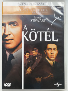 Rope DVD 1948 A kötél / Directed by Alfred Hitchcock / Starring: James Stewart, John Dall, Farley Granger (5996051050611)
