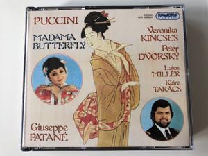 Puccini – Madama Butterfly / Giuseppe Patané / Veronika Kincses, Peter Dvorský, Lajos Miller, Klára Takács / Hungaroton Classic 2x Audio CD 1994 Stereo / HCD 12256-57