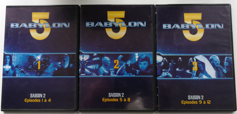 Babylon 5 DVD SET Season 2 / French Release - Episodes 1-12 / Saison 2 - Episodes 1 á 12 / Created by J. Michael Straczynski / Starring: Bruce Boxleitner, Michael O'Hare, Claudia Christian, Jerry Doyle (Babylon5-3DVD)