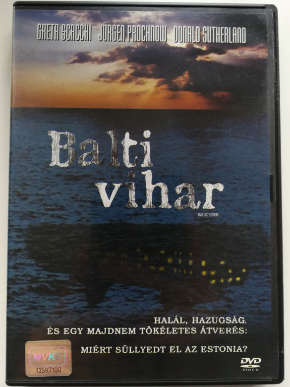 Baltic Storm DVD 2003 Balti vihar / Directed by Reuben Leder / Starring: Greta Scacchi, Jürgen Prochnow, Rein Oja, Donald Sutherland (5996255716658)