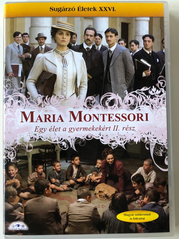 Maria Montessori - Una vita per i bambini 2 DVD 2007 Maria Montessori egy élet a gyermekekért II. rész / Directed by Gianluca Maria Tavarelli / Starring: Paola Cortellesi, Massimo Poggio, Gian Marco Tognazzi / Sugárzó életek XXVI. (5999883203484)