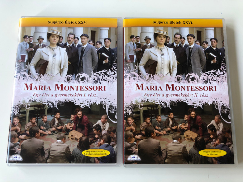 Maria Montessori - Una vita per i bambini 1+2 DVD SET Maria Montessori egy élet a gyermekekért I. és II. rész / Directed by Gianluca Maria Tavarelli / Starring: Paola Cortellesi, Massimo Poggio, Gian Marco Tognazzi (MariaMontessoriDVDSET)