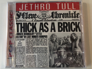 Jethro Tull – Thick As A Brick / Pop Classic / Audio CD / 5998490701246