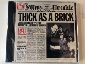Jethro Tull ‎– Thick As A Brick / EMI Music ‎Audio CD 1997 / 4 95400 2