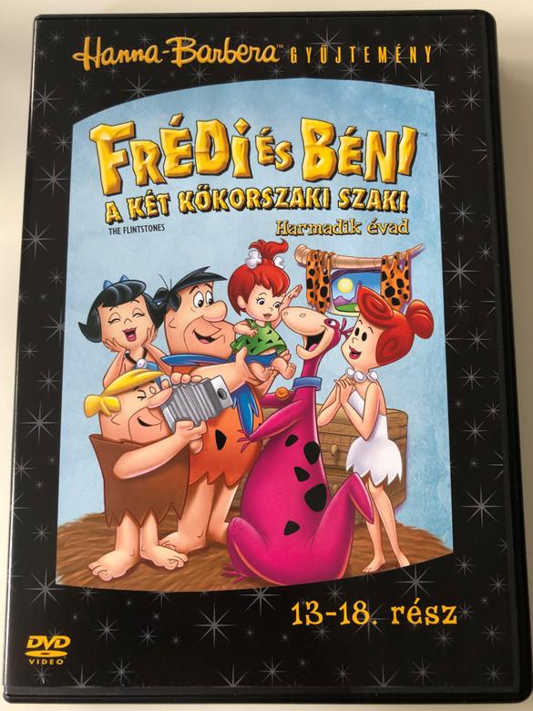 The Flintstones Season 3 Disc 3 DVD 1966 Frédi és Béni A két kőkorszaki szaki / Season 3 / Harmadik évad / Episodes 13-18 / / Hanna-Barbera / Animated Classic (5999048907868)