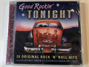 Good Rockin' Tonight / 28 Original Rock 'N' Roll Hits, featuring Bill Haley, Fats Domino , Little Richard, Louis Jordan, John Lee Hooker / Prism Leisure ‎Audio CD 2004 / PLATCD1243