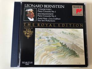 Leonard Bernstein - Tchaikovsky - Piano Concerto No. 1, Rachmaninov: Piano Concerto No. 2 / Andre Watts, Gary Graffman, New York Philharmonic / The Royal Edition - No. 88 Of 100 / Sony Classical Audio CD 1993 / SMK 47630
