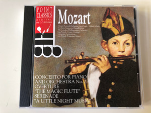 "Mozart ‎– Concerto For Piano And Orchestra No. 23, Overture ""The Magic Flute"", Serenade ""A Little Night Music"" / Point Classics ‎Audio CD 1994 / 2671202"