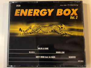 Energy Box Vol. 2 / Nalin & Kane, R.O.O.S., Down Low, Dirty Mind Feat. DJ Dado, Scooter, and more / ZYX Music ‎2x Audio CD 1998 / ZYX 81136-2