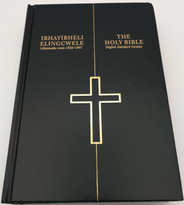 IsiZulu - English Holy Bible / Ibhayibheli Elingcwele - ESV Holy Bible / First Diglot Edition / Bible Society of South Africa 2019 / IsiZulu-English Bilingual Bible / ZUL/ENG-63DI Hardcover Black Red-edged (9780798222112)