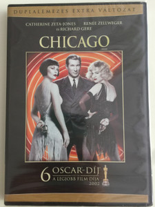 Chicago the Musical DVD 2002 Duplalemezes extra változat / Directed by Rob Marshall / Starring: Renée Zellweger, Catherine Zeta-Jones, Richard Gere, Queen Latifah (5999075602354)