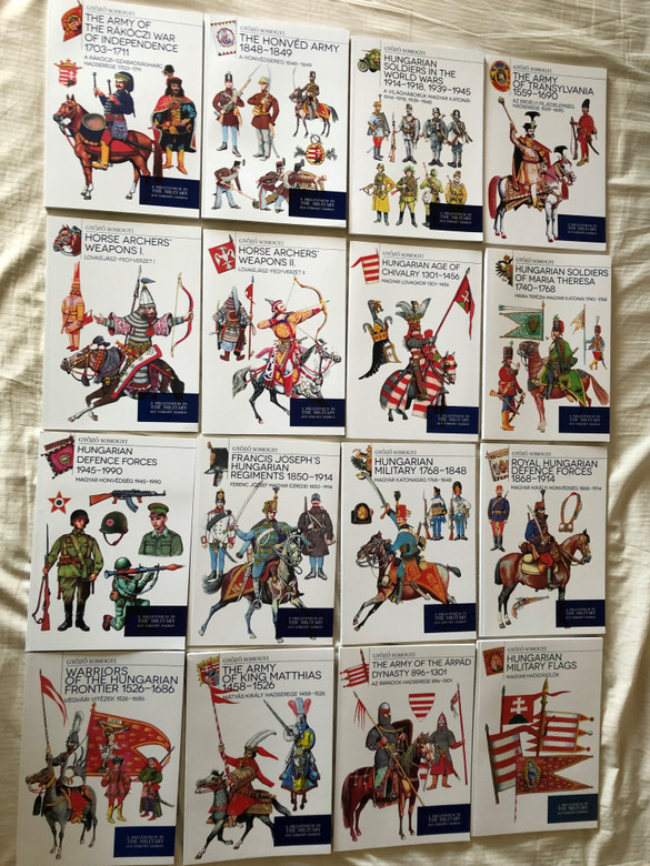 A Millennium in The Hungarian Military - Győző Somogyi / Complete 16 Volume collection / English - Hungarian Bilingual Publication (SomogyiHUNMilitrayBooks)