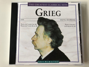The Greatest Classical Hits: Grieg / 'Peer Gynt' Suite I Op. 46, 'Peer Gynt' Suite II Op. 55, Piano Concerto In A Minor Op. 16 / Selcor Ltd. Audio CD 1991 Stereo / GCH 2401