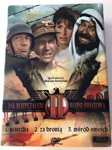 Jak rozpętałem II wojnę światową I-III DVD SET 1969 How I Unleashed World War II Full series 3 DVD / Directed by Tadeusz Chmielewski / Starring: Marian Kociniak, Wirgiliusz Gryń, Leonard Pietraszak / Polish mini series (5906619084293)