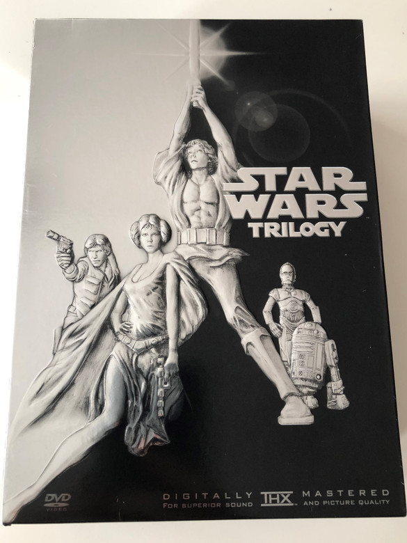 Star Wars Trilogy DVD SET 2004 Bulgarian release - Episode IV A New Hope, V. The Empire Strikes Back, VI. Return of the Jedi / Star Wars трилогия IV. Нова надежда, V. Империята отвръща на удара, VI. Връщане на джедаите / 4 DVD (SWTrilogyBUG4DVD)