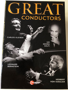 Great Conductors DVD SET 4x DVD Carlos Kleiber - I am lost to the world, Georg Solti - Journey of a Lifetime, Leonard Bernstein - Larger than life, Herbert von Karajan - Maestro for the screen / C Major entertainment (814337014414)