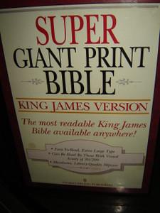 Super Giant Print Bible: King James Version (3 Volumes)