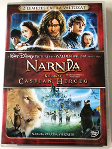 The Chronicles of Narnia - Prince Caspian DVD Narnia Krónikái Caspian Herceg 2DVD / Directed by Andrew Adamson / Starring: Georgie Henley, Skandar Keynes, William Moseley, Anna Popplewell / Kétlemezes Extra változat (5996255726800)