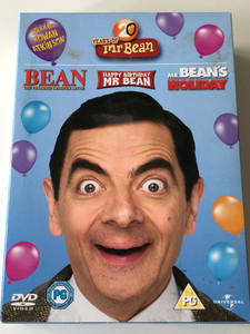 20 years of Mr. Bean DVD SET Happy Birthday Mr Bean, Mr. Bean's Holiday, Bean - the ultimate Disaster movie / Starring: Rowan Atkinson / Directed by Steve Bendelack, Mel Smith / 3 dvd (5050582810431)