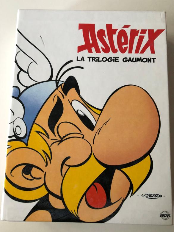 Astérix - La Trilogie Gaumont DVD SET 2005 4 X DVD Asterix et la Surprise de Cesar, Asterix Chez Les Bretons, Le coup du Menhir, Le forum des bonus / French Collector's edition (3333290002681)