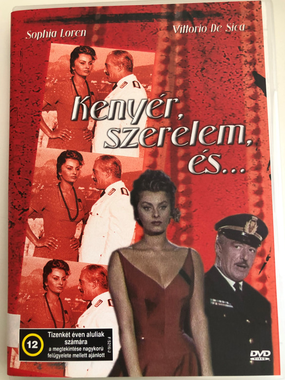 Pane, amore e... DVD 1955 Kenyér, szerelem és (Bread, Love and ...) / Directed by Dino Risi / Starring: Vittorio De Sica, Sophia Loren, Antonio Cifariello (5996051438617)