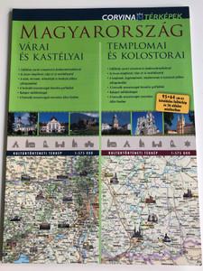 Magyarország várai és kastélyai - Castles and Fortresses of Hungary MAP (1:575 000) / Magyarország templomai és kolostorai - duótérkép - Monasteries and Temples in Hungary (1:575 000) / Corvina Térképek (9789631363456)